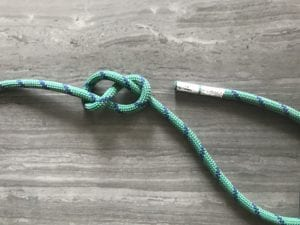 well-dressed figure eight knot starting hard