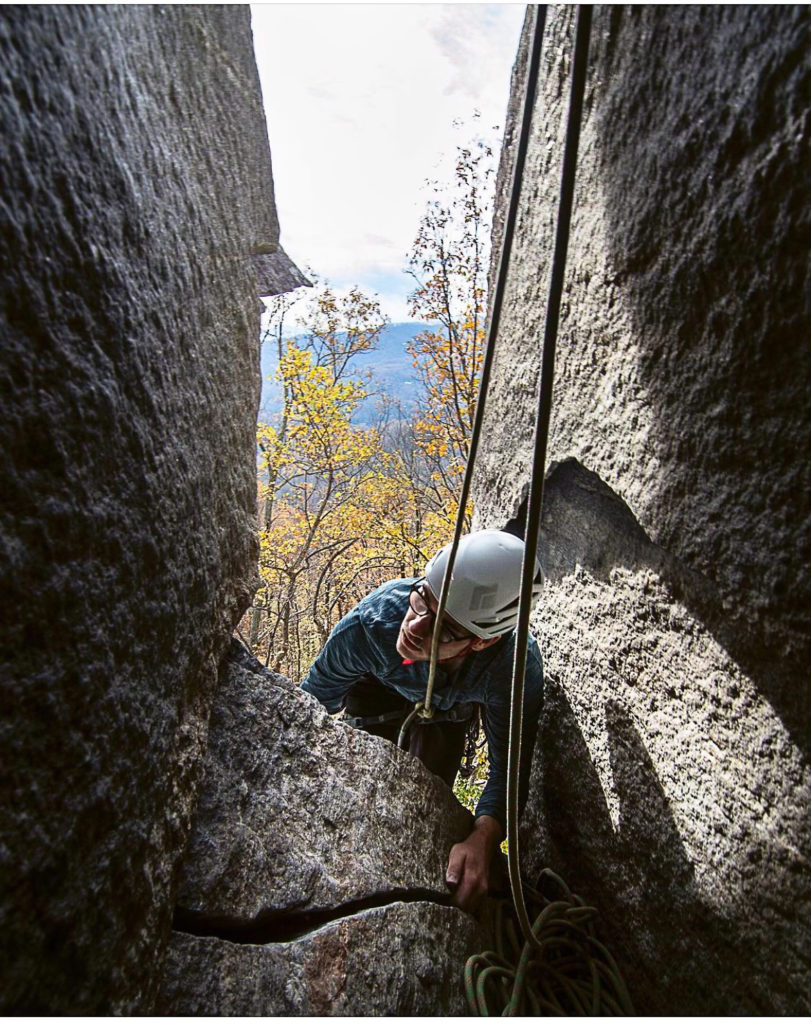 Climbing Fruit Loops as a first multi-pitch climb